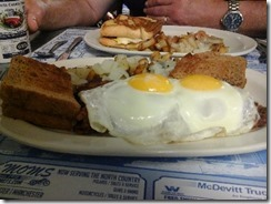 Hash and Eggs at the NorthCountry Restaurant